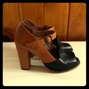 Schuler & Sons Colorblock Heels
